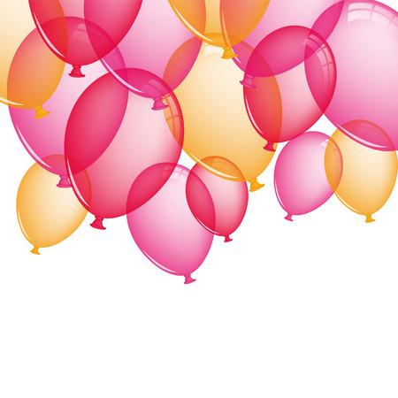 pink balloons: Pink balloons