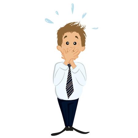blunder: Confused businessman