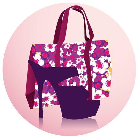 fashion shoes: Bag and shoe