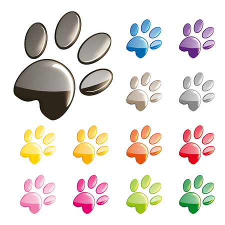 fart: Cat paws icons