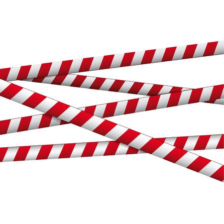slap: Red and white ribbon Illustration