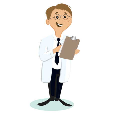 counselor: Cartoon doctor Illustration