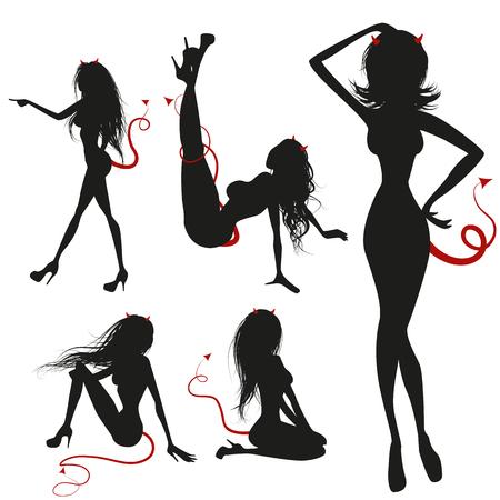 sex appeal: Sexy temptation Illustration