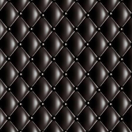quilted fabric: Black quilted texture Illustration