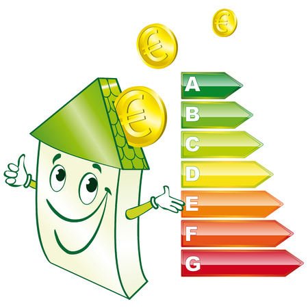 save heating costs: Eco house