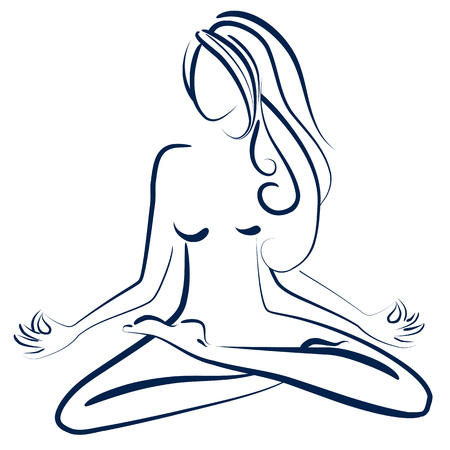 Zen woman Vectores