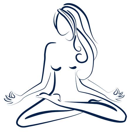 introspection: Zen woman Illustration