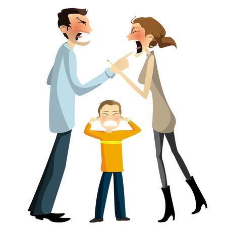 divorce: Domestic disputes Illustration