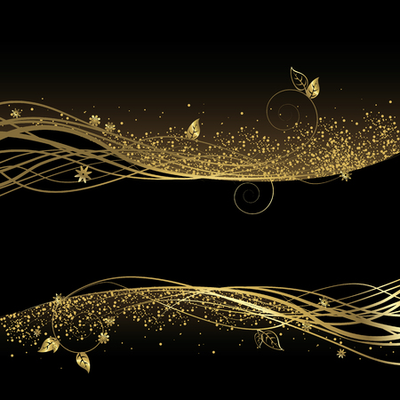 Black and gold background Vectores