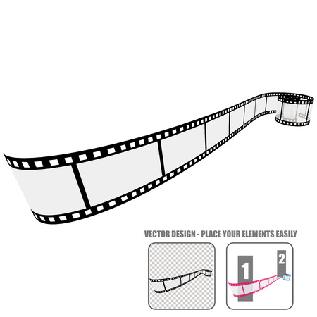 rollo pelicula: Rollo de película del vector Vectores