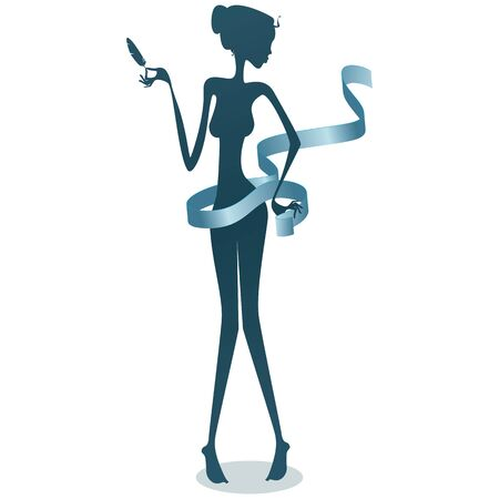 Thin woman illustration
