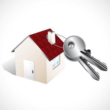 lodging: Home and keys Illustration