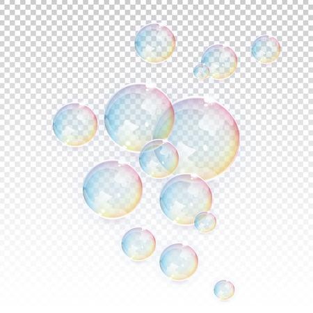 jabon: Burbujas elementos vectoriales transparentes