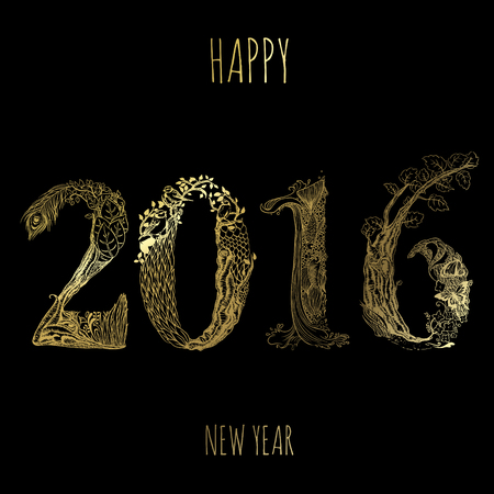carbonero: Happy 2016 black and gold