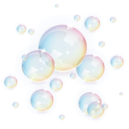 Bubbles vector background