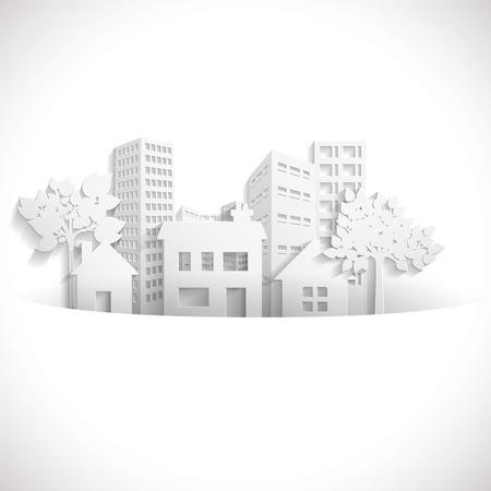 Ville de papier Banque d'images - 44985047