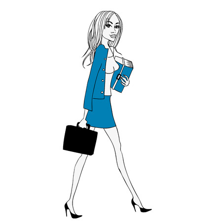 business woman: Business woman cartoon