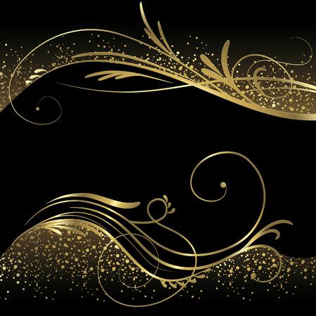 Black and gold background Illustration