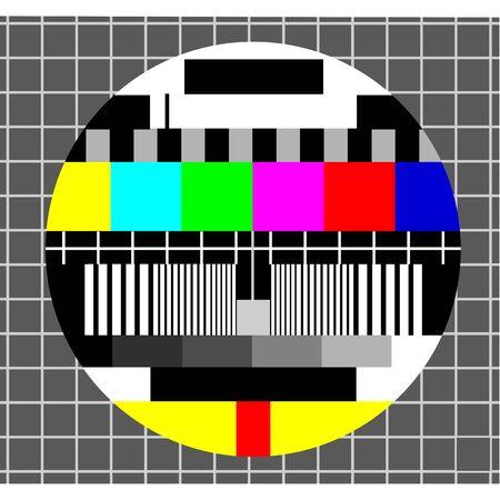 TV-test Vector Illustratie