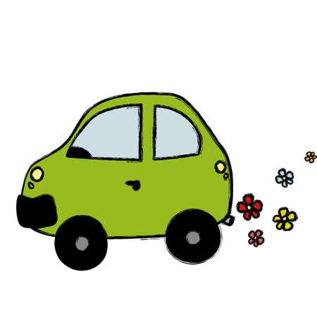 Eco car Illustration