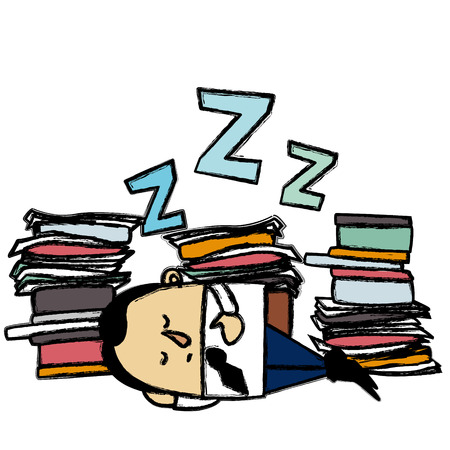 sleeping businessman: Sleeping businessman Illustration