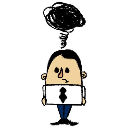 empresario triste: Hombre de negocios triste Vectores