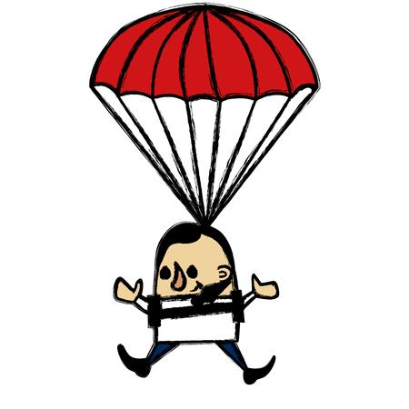 skydiver: Skydiver businessman