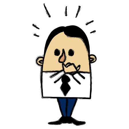 talkative: Confused businessman