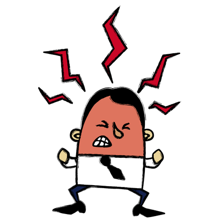 angry businessman: Angry businessman