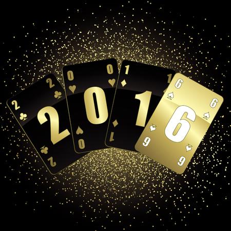 vector greeting card: Vector greeting card for 2016