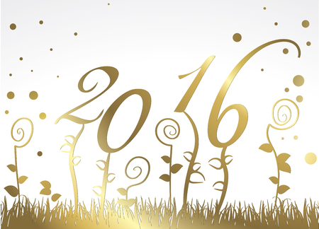 Vector greeting card for 2016