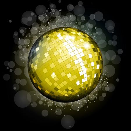 70 80 years: Golden disco ball