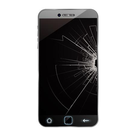 Broken smartphone  イラスト・ベクター素材