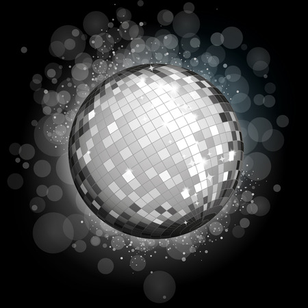 70 80 years: Silver disco ball