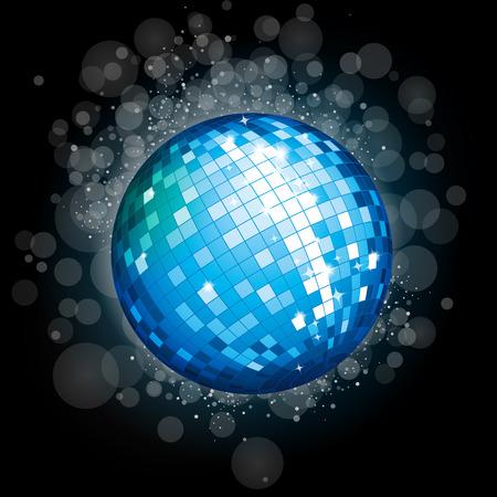 Bleu boule disco