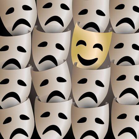Smiling mask