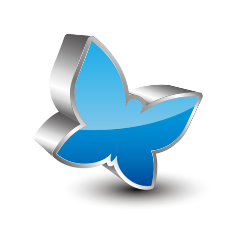 3d icon: Butterfly 3D icon Illustration