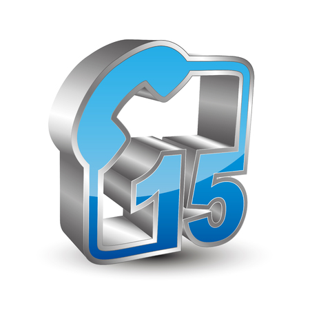 15: Call 15 3D icon