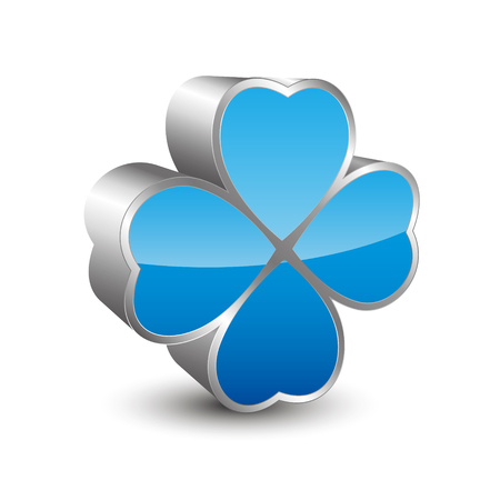 Four leaf clover 3D icon