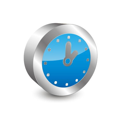 reflection internet: Clock 3D icon