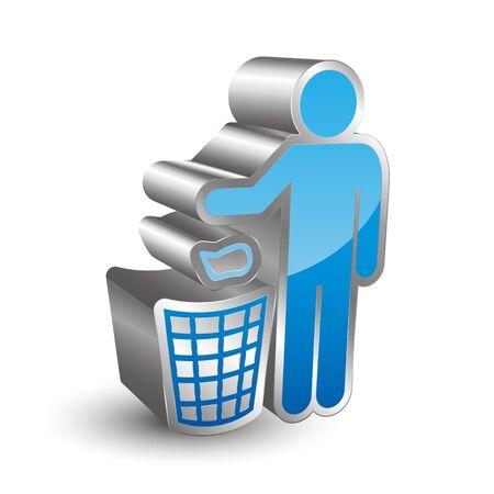 aseo: Icono de Limpieza 3D Vectores