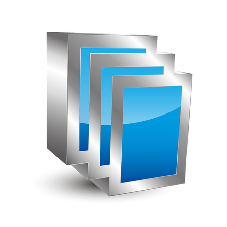 3d icon: 3D icon Documents