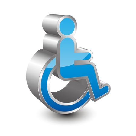 disabled person: Disabled person 3D icon Illustration
