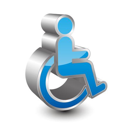 impairment: Disabled person 3D icon Illustration