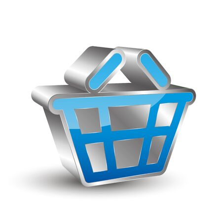 reflection internet: Shopping cart icon 3D