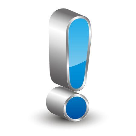 3D exclamation mark icon Ilustração
