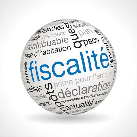 フランス税球  イラスト・ベクター素材