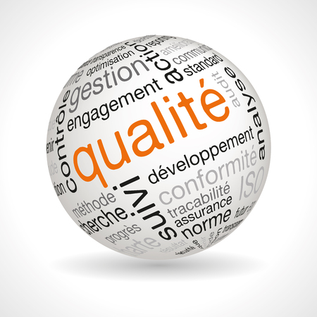 Sphère de la qualité française Banque d'images - 45451990