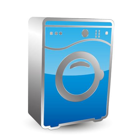 washing machine: washing machine icon 3D