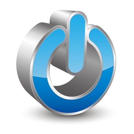 power button: power 3D icon Illustration